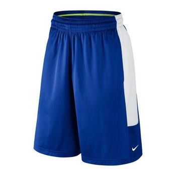 【Nike】2016男時尚Cash籃球皇家藍白色休閒運動短褲(預購)