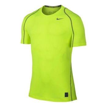 【Nike】2016男時尚Pro Cool伏綠色合身圓短袖ㄒ恤(預購)