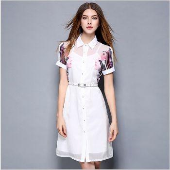 (現貨+預購 RN-girls) -歐美夏季新品娃娃領吊帶假兩件式連身裙