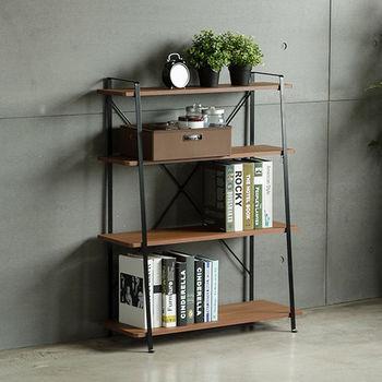《舒適屋》工業無印風四層木質層架/置物架