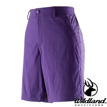 【荒野wildland】女彈性抗UV短褲 紫羅蘭 (0A21381-29)
