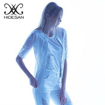 【HIDESAN海蒂山】夏日百搭編織系蕾絲外套