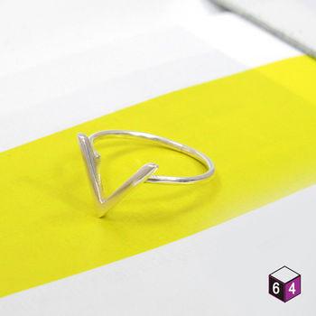 ART64 戒指 Shape造型系列-卓越之向 V字 925純銀戒指