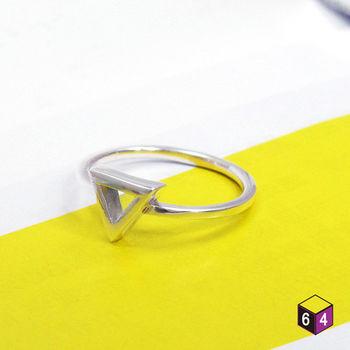 ART64 戒指 Shape造型系列-鏤空三角 925純銀戒指