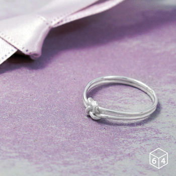 ART64 戒指 Shape造型系列-情結 繩結造型 925純銀戒指