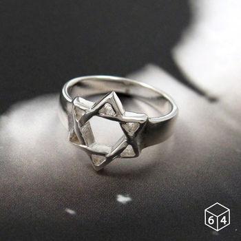 ART64 戒指 Shape造型系列-魔幻星祈 六芒星造型 925純銀戒指