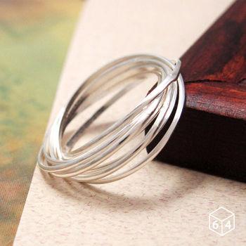 ART64 戒指 Shape造型系列-光之迴圈 多環/多圈造型 925純銀戒指