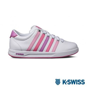 K-Swiss Court Pro S CMF運動休閒-女鞋-白/莓紅/粉紫