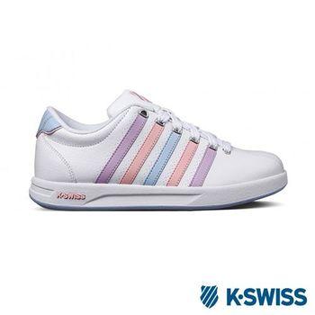 K-Swiss Court Pro S CMF運動休閒-女鞋-白/淺紫/粉紅
