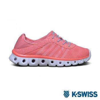 K-Swiss X Lite Athleisure CMF輕量訓練鞋-女-蜜桃橘/水藍