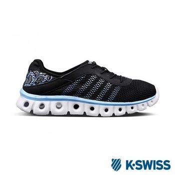 K-Swiss X Lite Athleisure CMF輕量訓練鞋-女-黑/天空藍