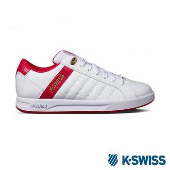 K-Swiss Lundahl WT S運動休閒-女鞋-白/桃紅