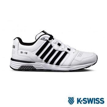 K-Swiss SI-18 Trainer III LTHR復古慢跑鞋-男-白/黑