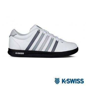 K-Swiss Court Pro S CMF運動休閒-男鞋-白/黑