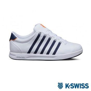 K-Swiss Court Pro S經典休閒運動鞋-男-白/海軍藍