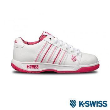 K-Swiss Eadall休閒運動鞋-女-白/粉紅格紋