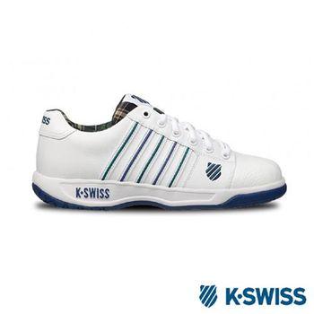 K-Swiss Eadall休閒運動鞋-男-白/綠格紋