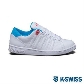 【K-Swiss】Lozan III經典休閒鞋-女 - 白/藍