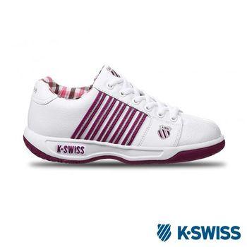 K-Swiss Eadall休閒運動鞋-女-白/紫/銀