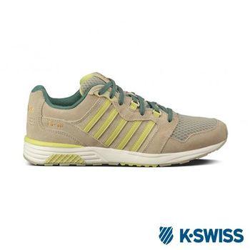 K-Swiss SI-18 Rannell經典休閒鞋-男-卡其/黃綠
