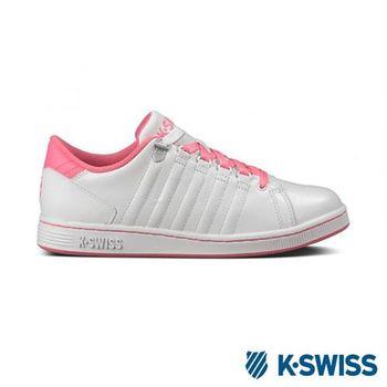K-Swiss Lozan III經典休閒鞋-女-白/莓紅