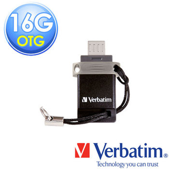 C01181VBVerbatim 威寶 16G OTG micro USB2.0 雙介面輕巧迷你隨身碟 (黑灰)
