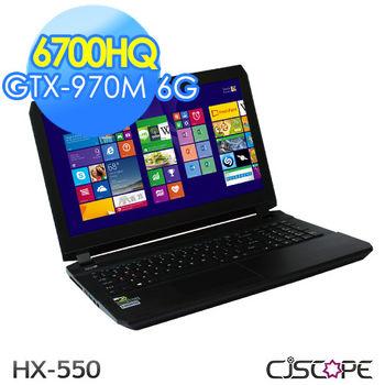 CJSCOPE HX-550 15.6吋Full HD i7-6700HQ 獨顯GTX-970M 6G 大容量250G+1TB 7200 電競旗艦筆電