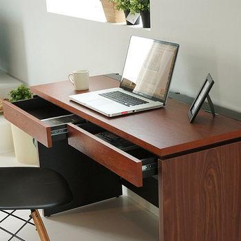 《舒適屋》高質感雙抽收納槽電腦桌/辦公桌-120cm
