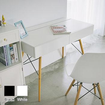 《舒適屋》多用途雙抽上掀式收納槽辦公桌/工作桌(2色可選)