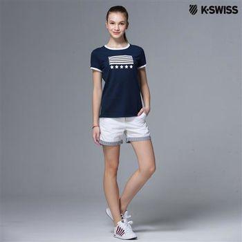 K-Swiss Shorts休閒短褲-女-白  S-XXL