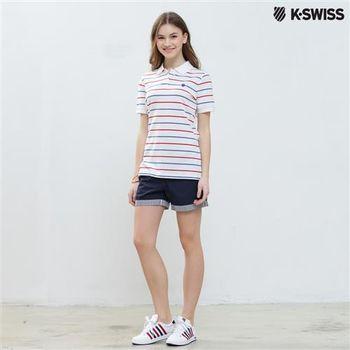 K-Swiss Shorts休閒短褲-女-海軍藍 S-XXL