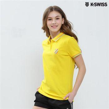 K-Swiss Solid Polo短袖Polo衫-女-黃 S-XXL