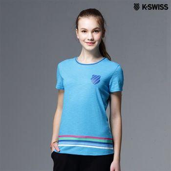 K-Swiss Striped Tee條紋短袖T恤-女-藍  S-XXL