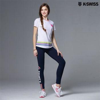 K-Swiss Tight運動內搭褲-女-海軍藍  S-XXL