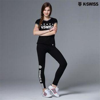 K-Swiss Tight運動內搭褲-女-黑  S-XXL