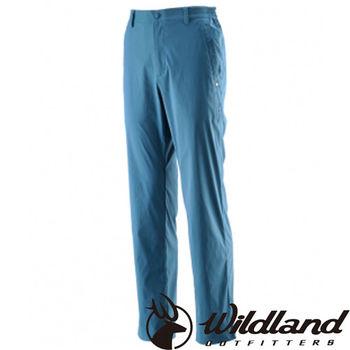 【荒野wildland】男彈性透氣抗UV長褲 土耳其藍 (0A21332-46)