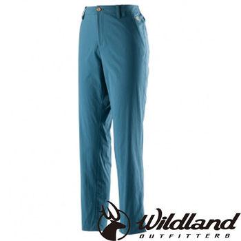 【荒野wildland】女彈性透氣抗UV九分褲 土耳其藍 (0A21331-46)