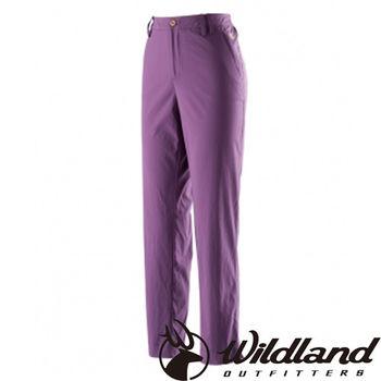 【荒野wildland】女彈性透氣抗UV九分褲 紫色 (0A21331-53)