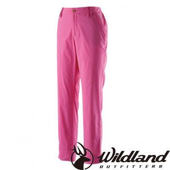 【荒野wildland】女彈性透氣抗UV九分褲 桃紅色 (0A21331-09)