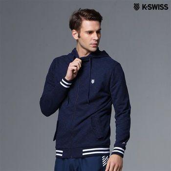 K-Swiss Allover Print Zip Up Jacket休閒外套-男  S-XXL