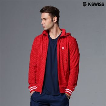 K-Swiss Allover Print Zip Up Jacket休閒外套-男 S-XXL