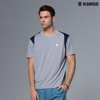 K-Swiss B2 crew專業網球T恤-男-海軍藍  S-XXL