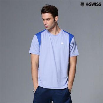 K-Swiss B2 crew專業網球T恤-男-藍  S-XXL