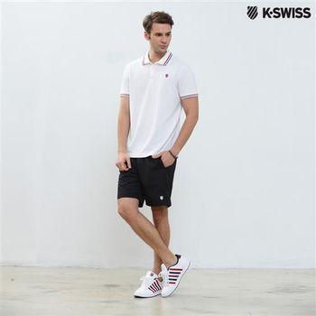 K-Swiss BB Shorts運動短褲-男-黑  S-XXL