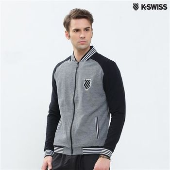 K-Swiss Bomber Jacket休閒外套-男-黑 S-XXL