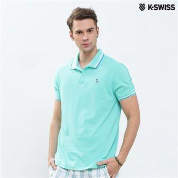 K-Swiss Solid Polo短袖Polo衫-男-綠  S-XXL