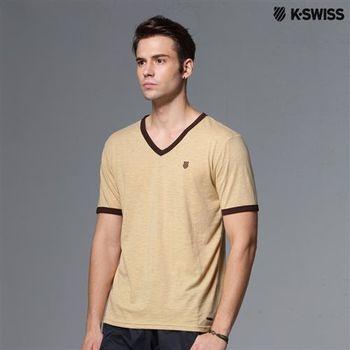K-Swiss V-neck Tee V領短袖T恤-男-咖啡  S-XXL