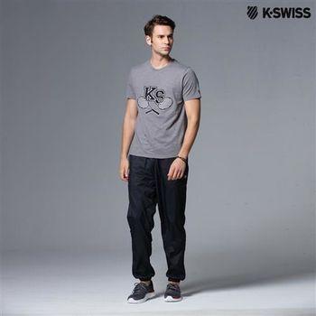K-Swiss Woven Pant運動長褲-男-黑 S-XXL