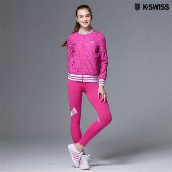 K-Swiss Capri tight運動內搭褲-女-瑰紅  S-XXL