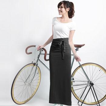 【遊遍天下】MIT台灣製防曬吸排涼感多功能一片裙(加大)黑